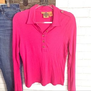 Tory burch Orquid Pink Long sleeve top medium